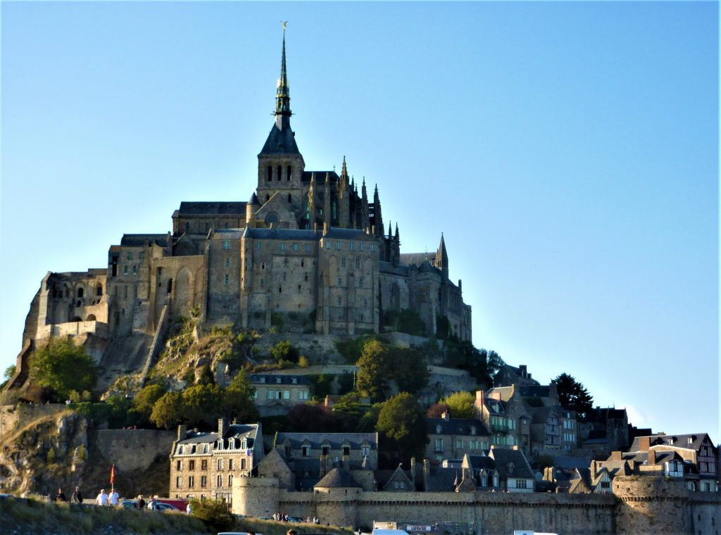 Mont-Saint-Michel on a clear day