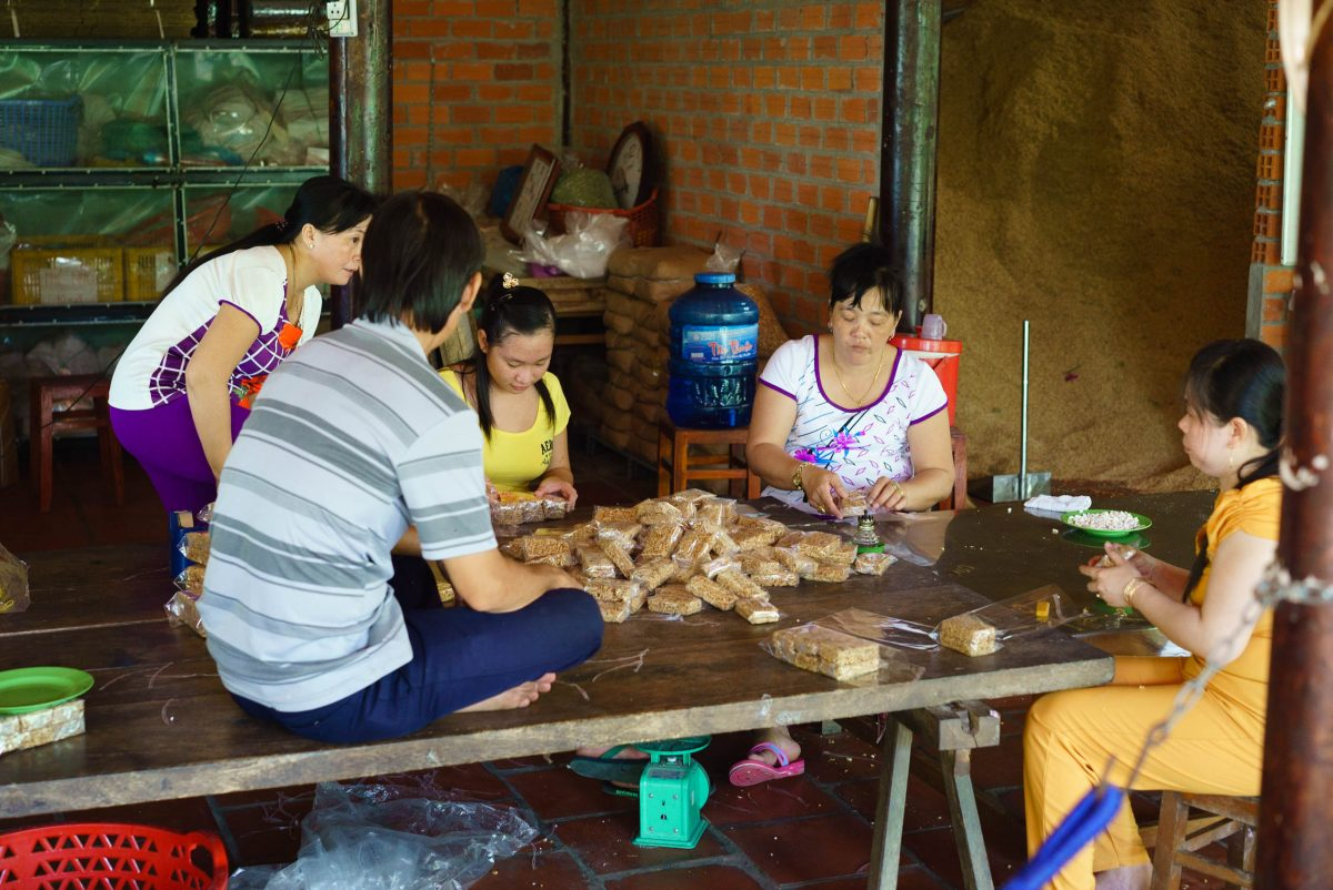 Making candies in the Mekong delta, Vietnam