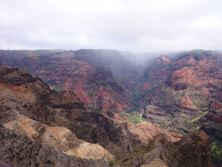 Waimea canyon in Kauai, Hawaii