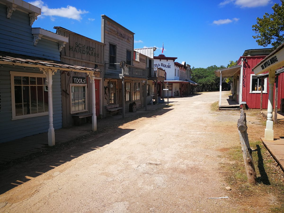 Pioneer town a Wimberley, Texas