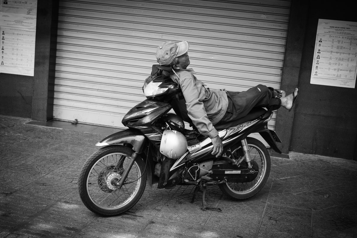 Hammock motorbike in Vietnam