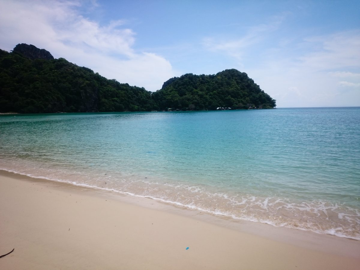 Loh Lana bay beach in Koh Phi Phi, Thailand